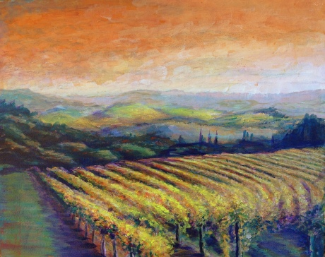 Vineyard at Dusk – Image © Susan Bartel. All Rights Reserved.
