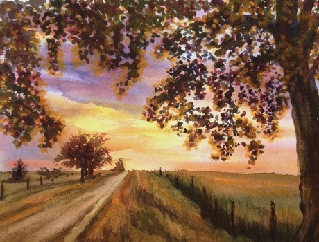 Lonely Road at Sunset – Image © Susan Bartel. All Rights Reserved.